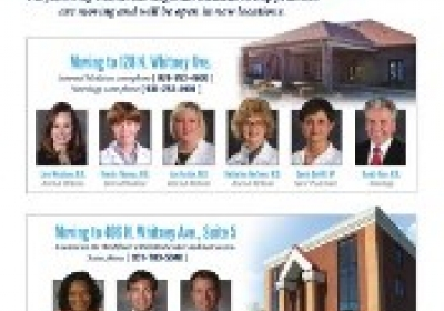Cookeville Regional Medical Group Office Relocations Effective